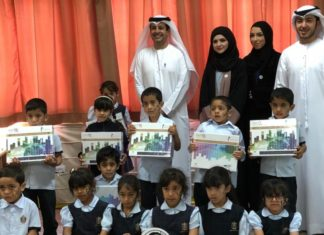 Mohammed Bin Rashid Al Maktoum Knowledge Foundation and HSBC Distribute 700 'Smart Reading Library Bags' in Ras Al Khaimah and Umm Al Quwain