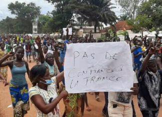 de 5000 personnes marchent contre la Minusca et Rfi à Bangui