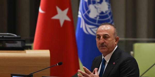 ministre des Affaires étrangères Mevlüt Çavuşoğlu à la réunion plénière de l'Assemblée générale des Nations unies sur la Palestine, 20 mai 2021